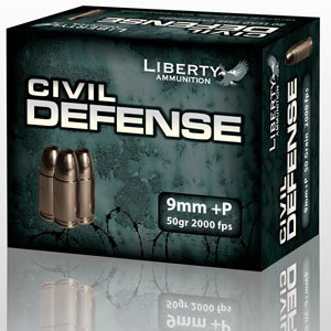 9mm 50 Gr JHP (Liberty Ammunition)