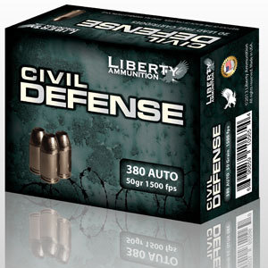 .380 Auto 50 gr JHP (Liberty Ammunition)